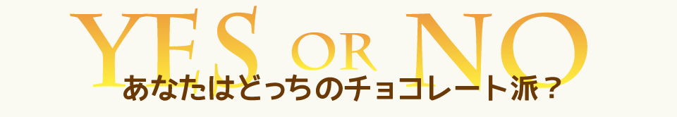 YES or NO あなたはどっちのチョコレート派?